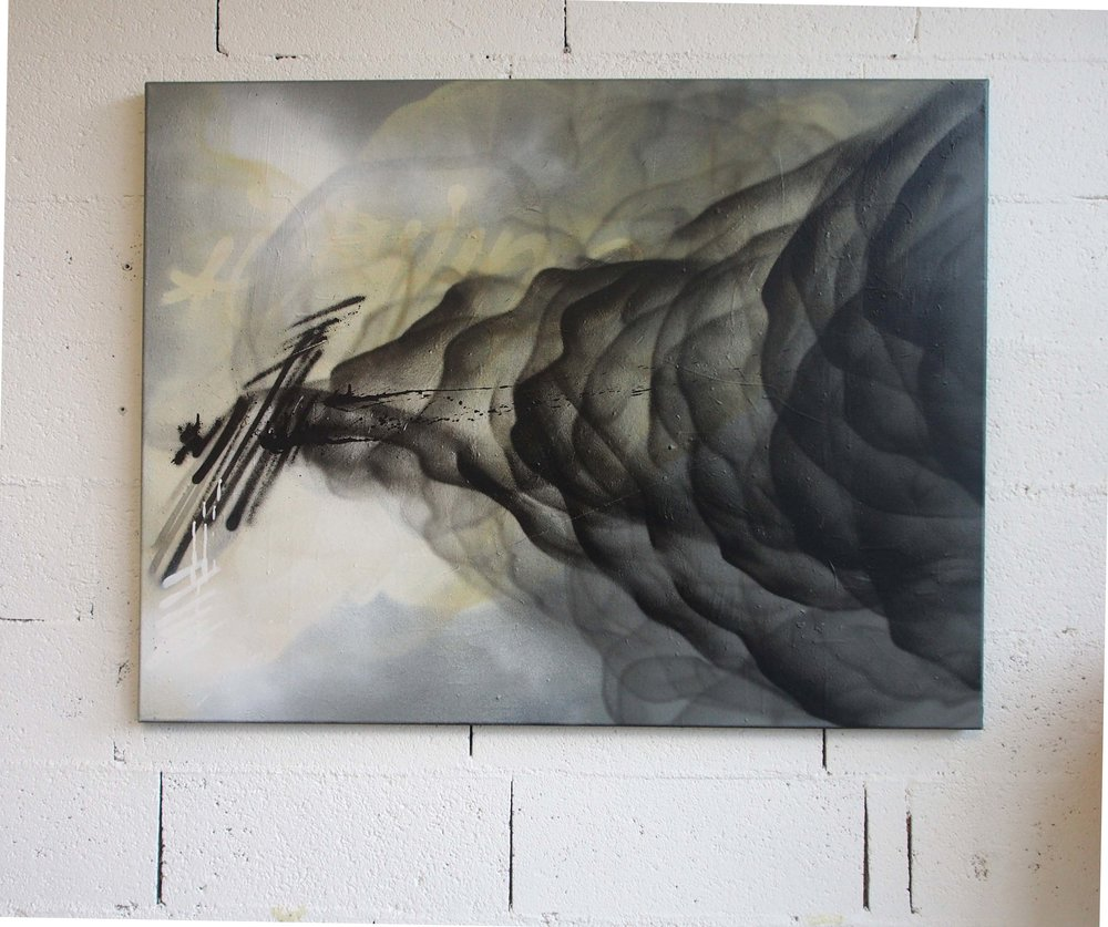 A - 88x115cm - Spray on canvas