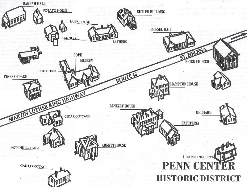 Penn Center Historic District Campus Map