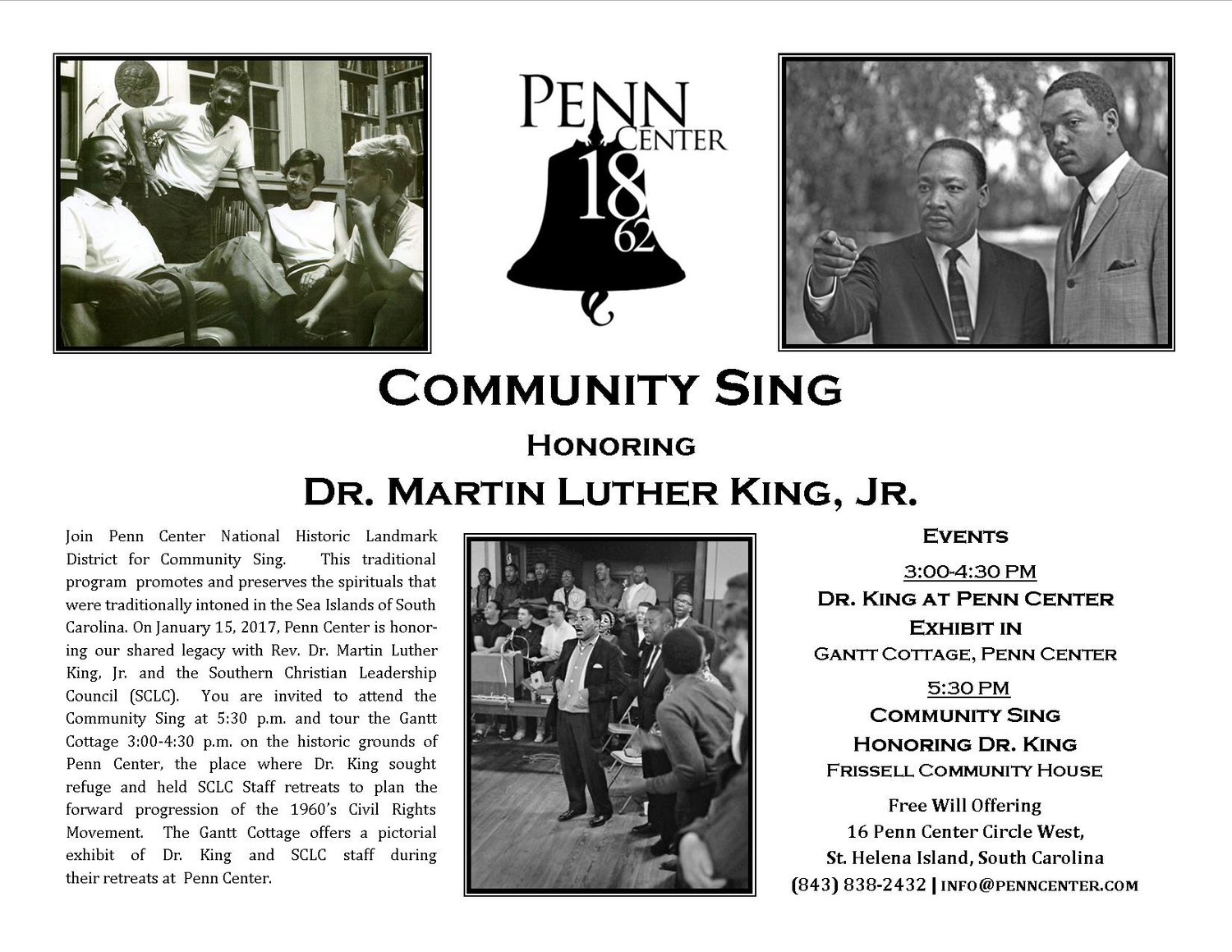 COMMUNITY SING HONORING DR. MARTIN LUTHER KING, JR.