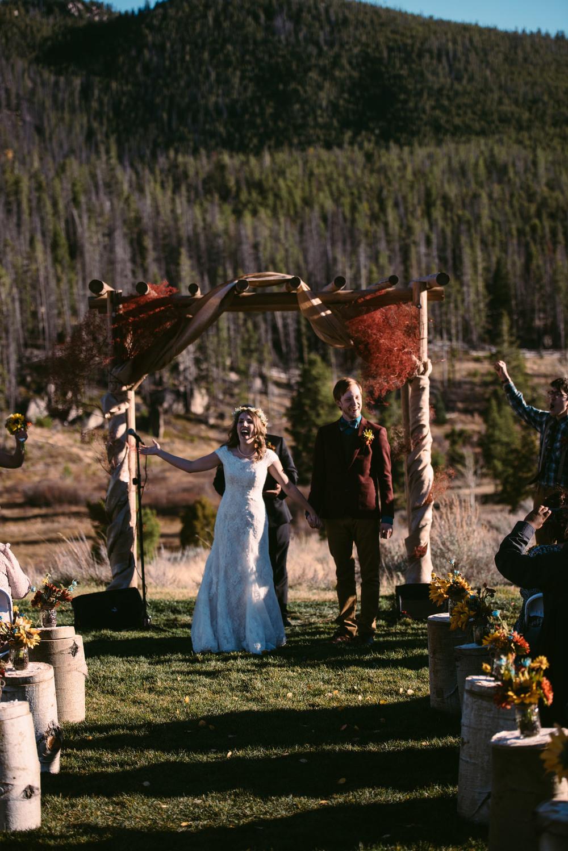 Outdoor Mountain Wedding Ceremony