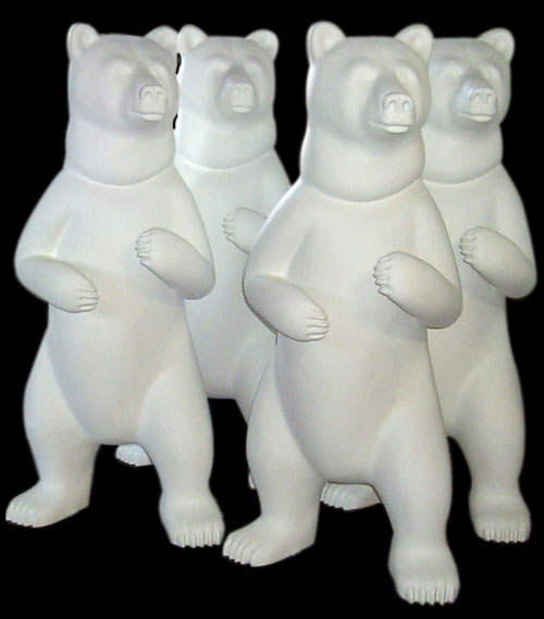 Dancing Bear Fiberglass Art