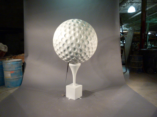 Fiberglass Golf Ball on Tee