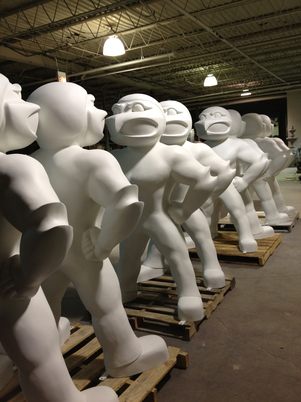 Fiberglass Herky on parade Round Two