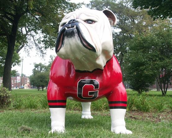 Fiberglass Bulldog Public Art