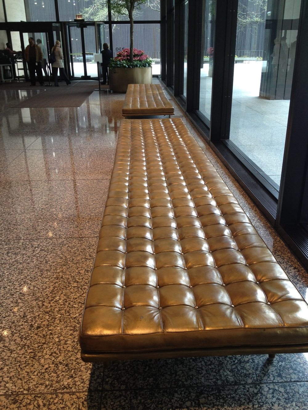 IBM Building Fiberglass Bench