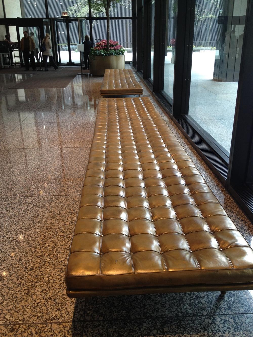 IBM Building Fiberglass Bench