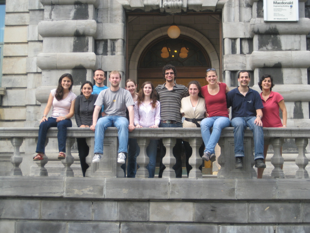 The lab group in summer 2009