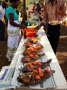 Fish buffet - Kenyan style!
