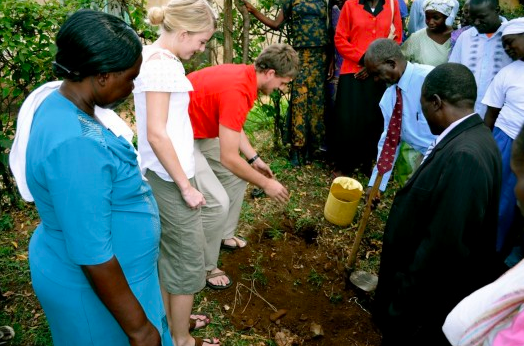 At the CFA kick-off event at a church in Kisumu, it is tradition to plant a tree for special events. Although I had no idea what I was doing, I was welcomed to step into that culture!