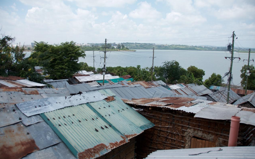 Rooftop view from our center in Tudor, Mombasa.