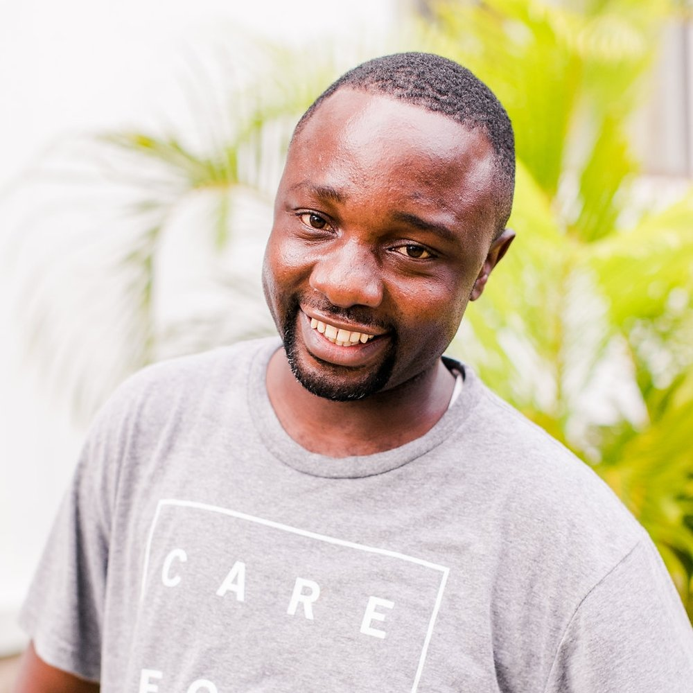 """- Spiritual Counselor, John Dono JacobJohn grew up in Kwale county in Kenya.Today he is married to Zulea and has one child, Emily. In 2015 he began serving with CFA.""""It is an avenue of helping my people especially my parents who are HIV/AIDS victims. Helping other people with the same is like helping my own."""""""