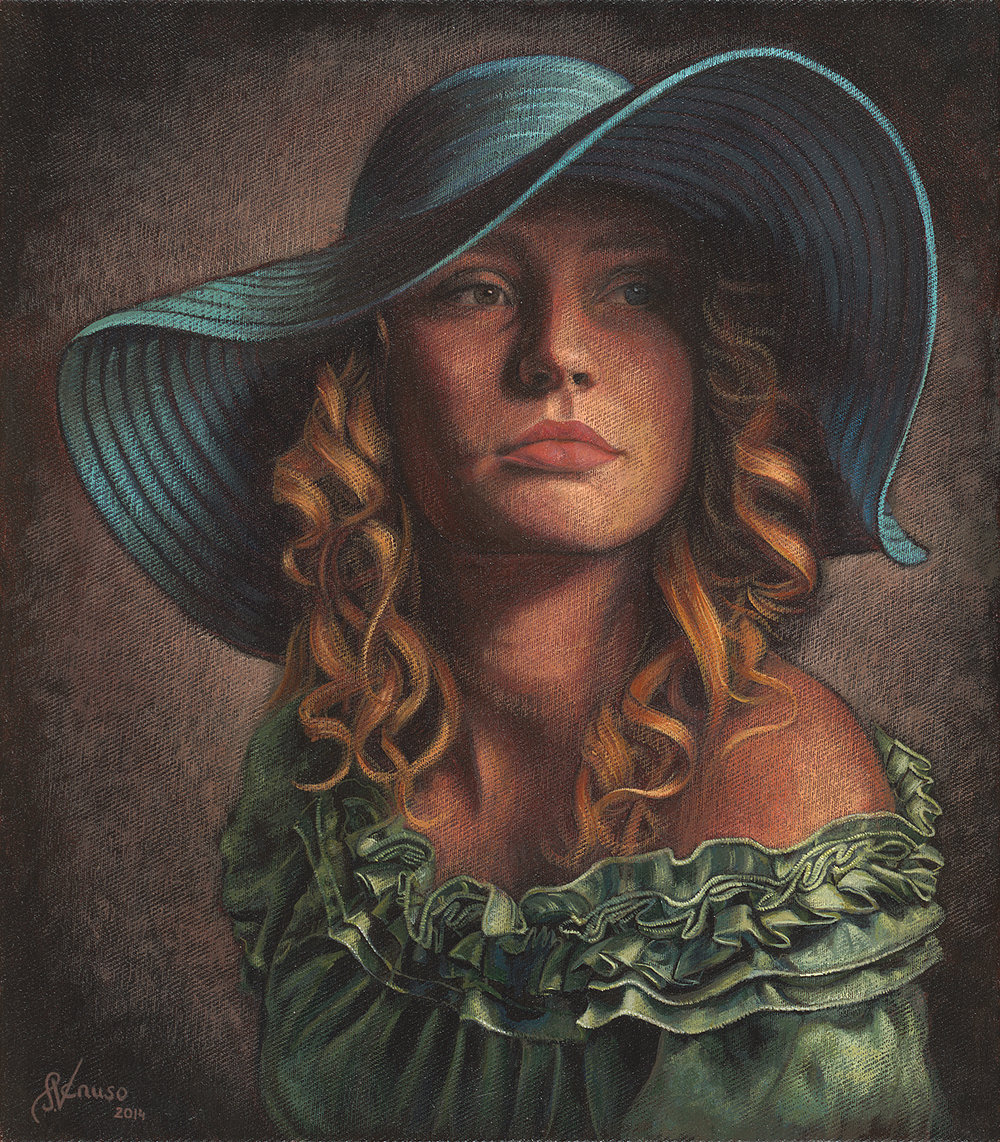 Blue Hat 14 x16inch  Acrylic on Canvas.jpg