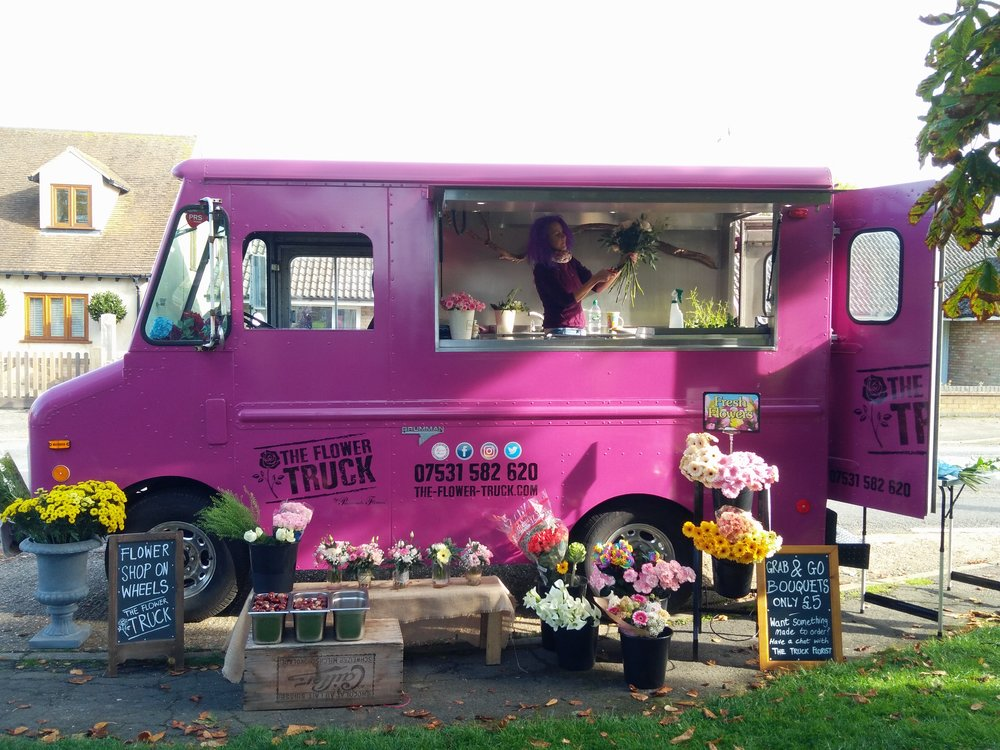 Flower truck - My flower shop on wheels aka The Passion Wagon. Take a look at her website.