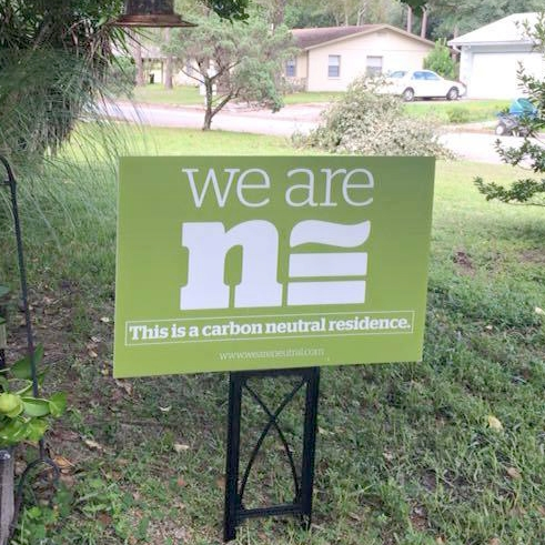 WE ARE NEUTRAL LAWN SIGN