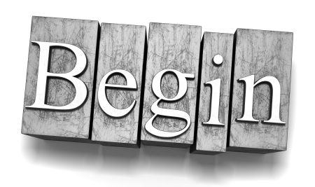 Begin text