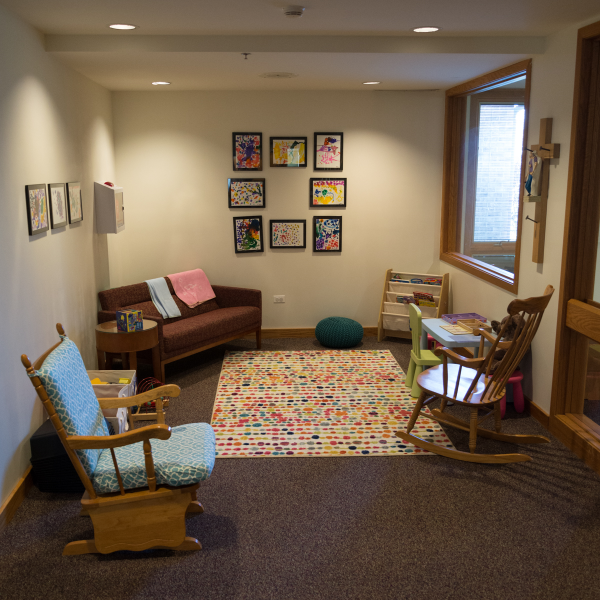 Our Shepherd's Corner is a great place for a worship pause for restless kids (of ALL ages!)