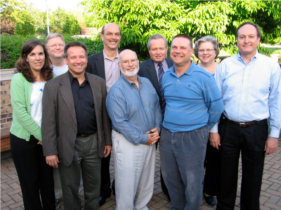Pictured (left to right): Susan Meyle, John Raley, Pictured (left to right): Scott Dismeier, Warren Graber, Jim Diehl, Paul Wickland, Mike Radochonski, Jan Christiansen, Jack Campbell