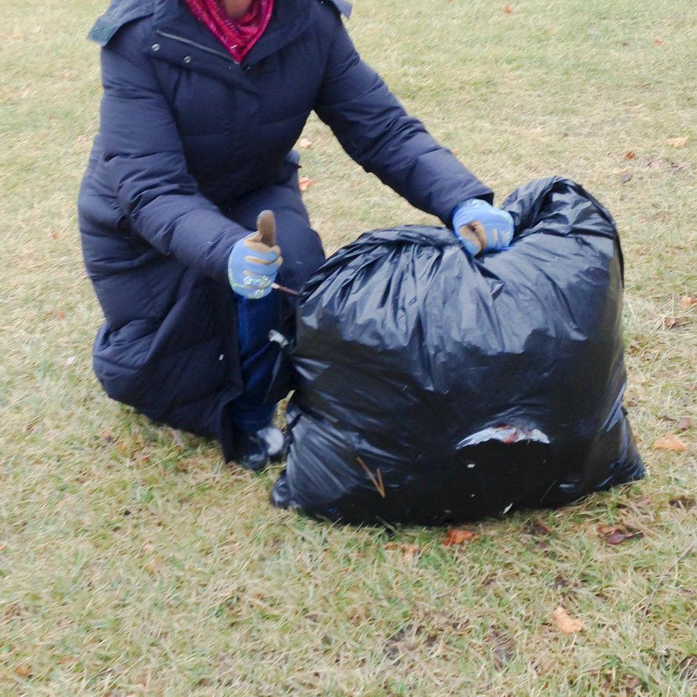 Neighborhood trash pick-up