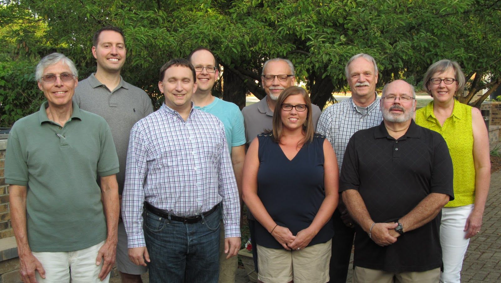 Pictured from left to right: Front row: Tod Kruse (Secretary), Troy Heinritz, Megan Larkin, Jim McCabe (Chair) Back row: Jason Madole, Tim Froehling, Ted Wiemann (Vice Chair), Fred Schattner, Julie Wettermann