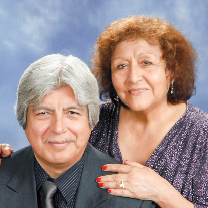 Elly Sifuentes with her husband, Cesar