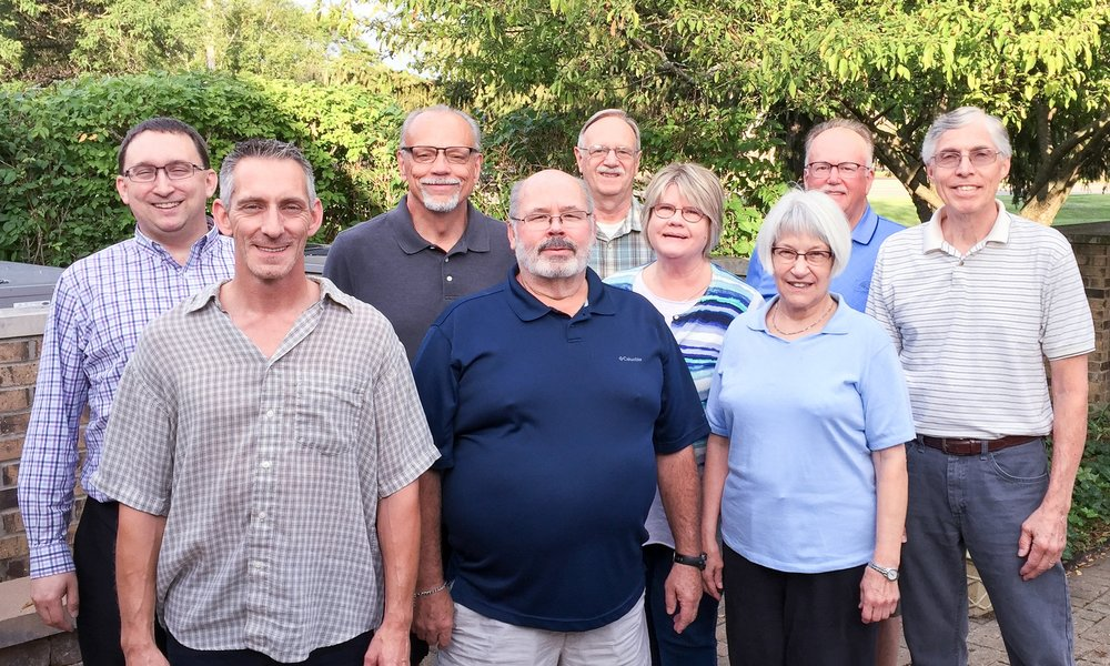 Pictured from left to right: Troy Heinritz (Secretary), Joe Guyer, Ted Wiemann (Vice Chair), Jim McCabe, Fred Schattner, Donna Younger, Mary Gail Ford, Bill Heffernan, Tod Kruse (Chair)