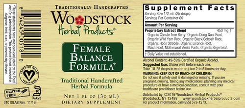 female balance formula woodstock herbal products