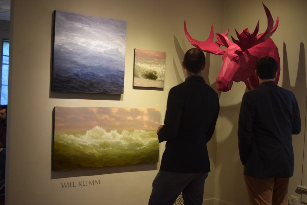 An example of the great works that can be found at the Wally Workman Gallery (Austin, TX). The purple moose is our favorite and needs to be seen in person.