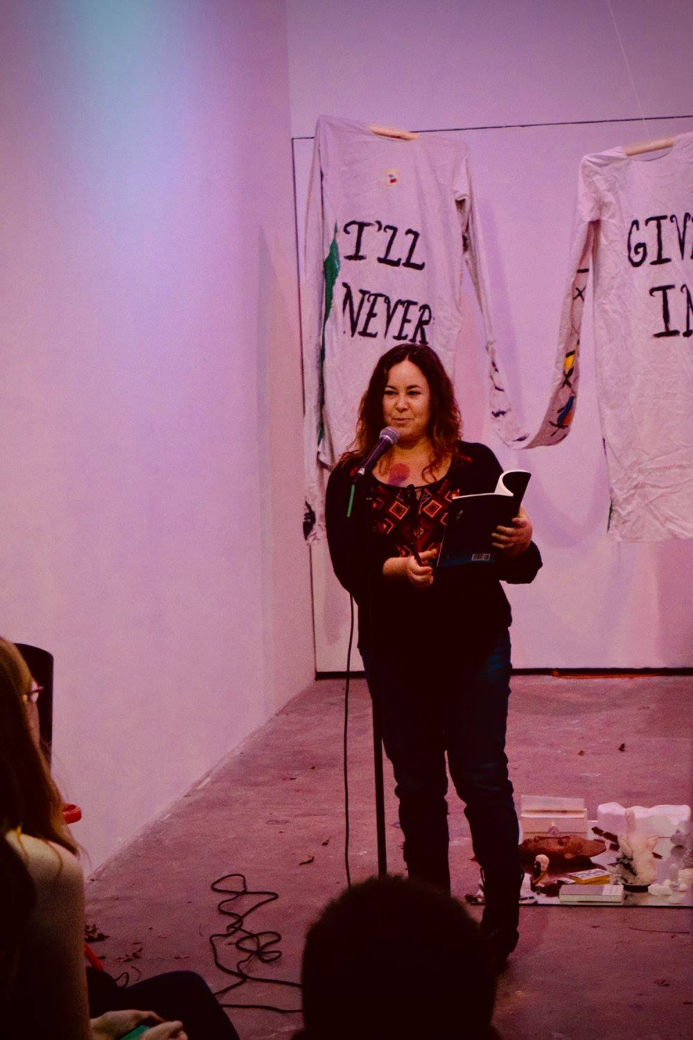 Lisa Olstein is the author of four poetry collections including her latest work,  Late Empire  which she is pictured here reading from.