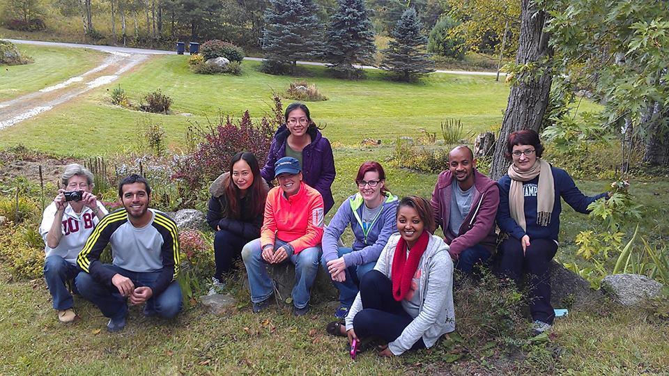 Ginny Teeter and InterVarsity Graduate Christian Fellowship group