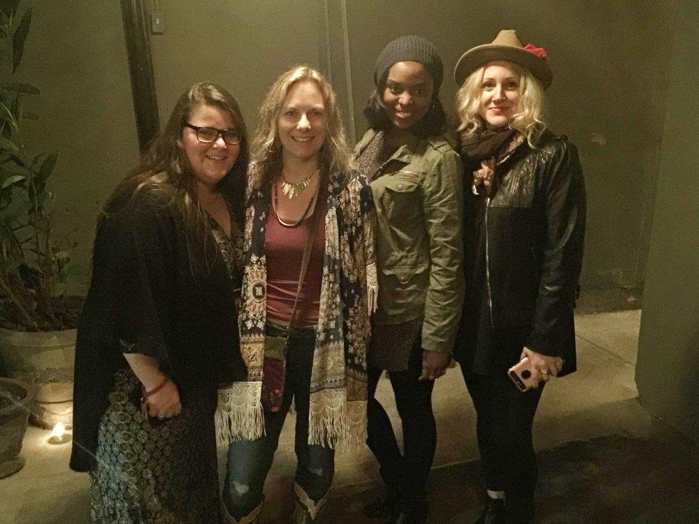 L to R (Dara Troshane, Carrie Schmitt, Me, and Anahata Katkin)