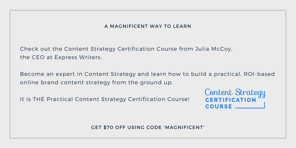 Content Strategy Training