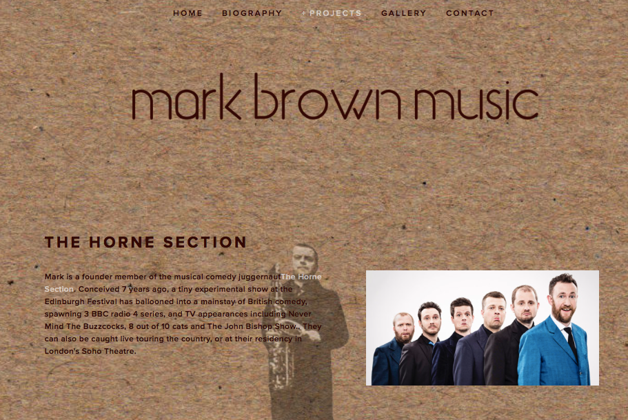 Mark Brown Music | Sax