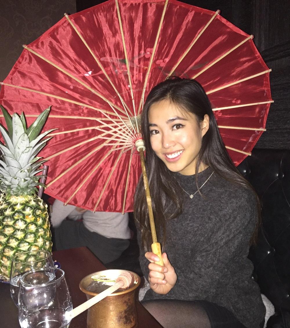 Got an umbrella along with the Pina Colada