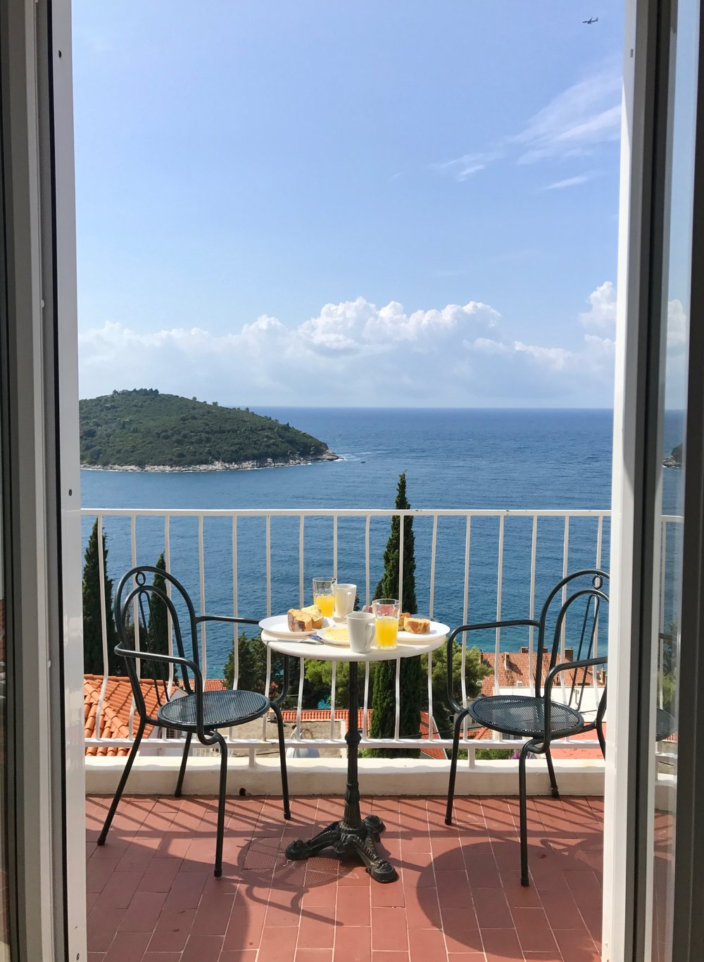 Daily breakfast views. Lokrum Island in the background