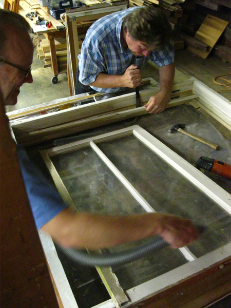 Photo of the September Sash Window Repair and Screen/Storm Window Building class.