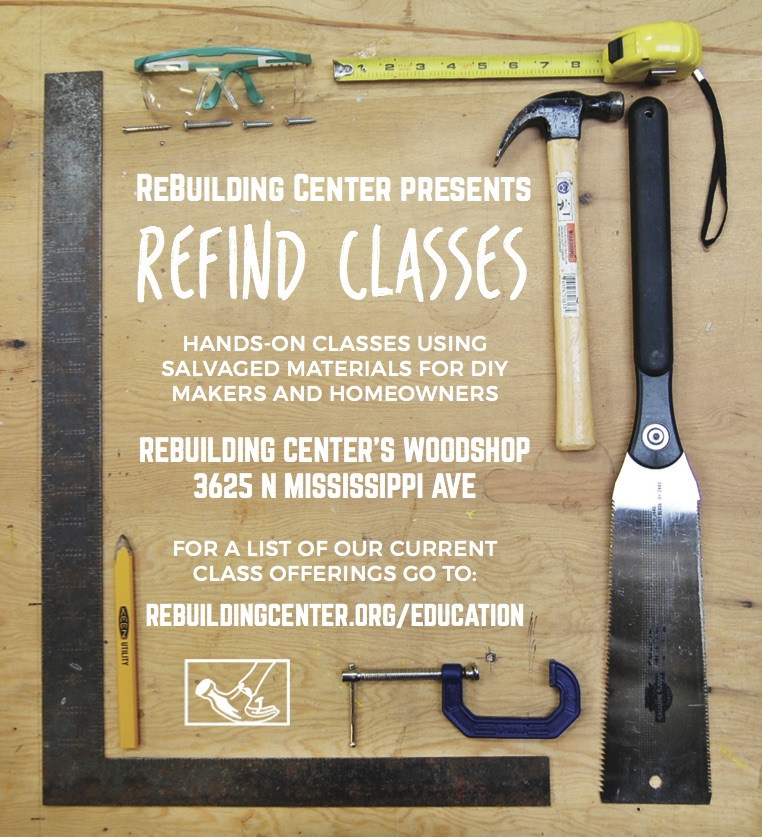 Flyer for adult education classes taking place in the RBC workshop