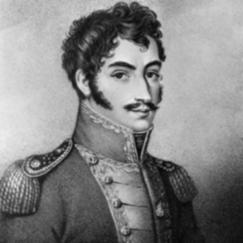 Bolivar in his military uniform.