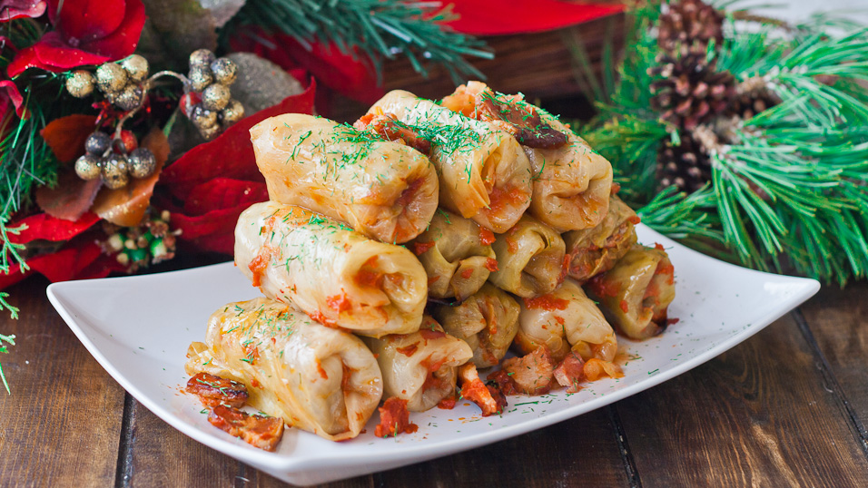 Romanian cabbage rolls, or sarmale