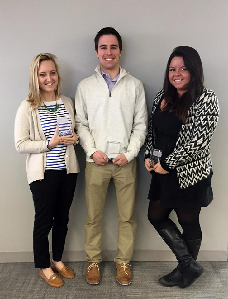 L to R: Maggie McKinney, Chris DiPietro,                                        Stephanie Carone