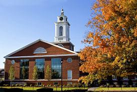 Bentley University, basking in foliage.