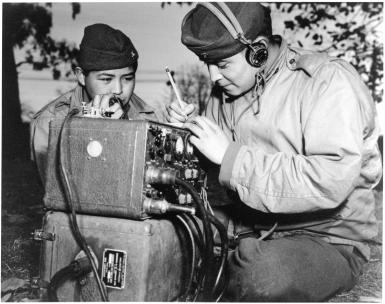 Navajo code talkers during WWII