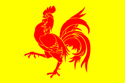 The flag of Wallonia