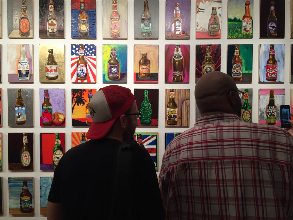 "Tom Sanford, installation view of ""99 Bottles of Beer on the Wall,"" Gitler &__, New York. Photo: Chris Bors"