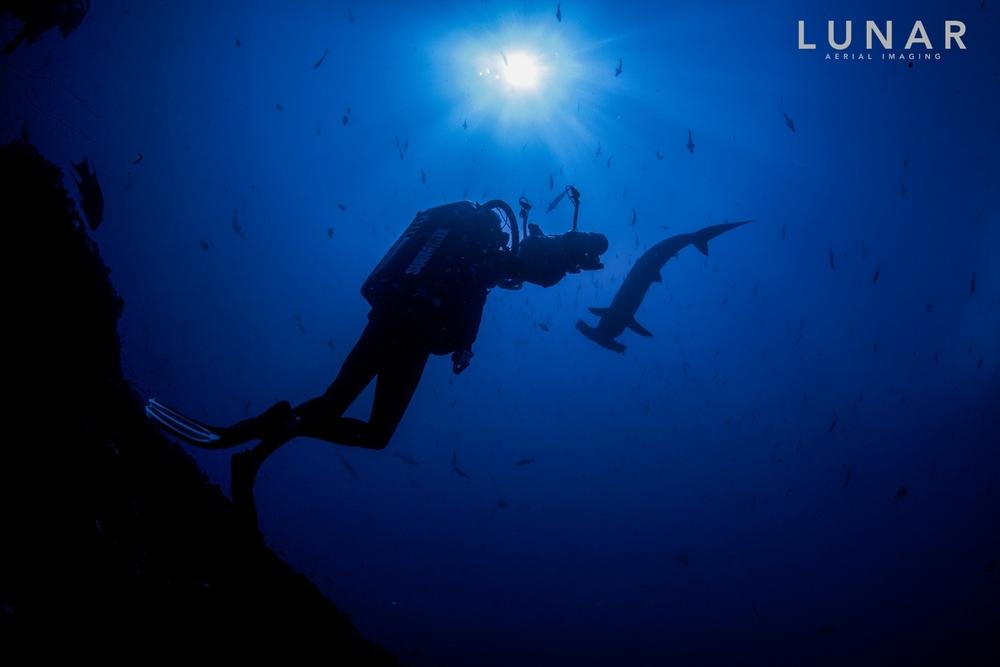 Underwater photography. Isla De Cocos, LUNAR Aerial Imaging