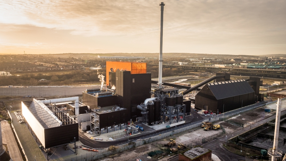Biomass Plant, Sheffield, Drones in construction. LUNAR Aerial Imaging