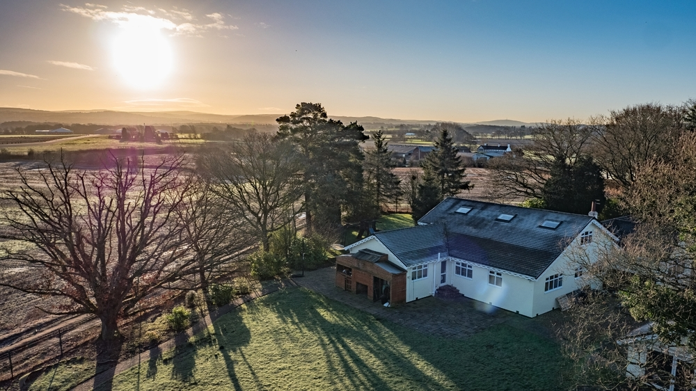 Estate agent and property drone aerial photography in Cheshire