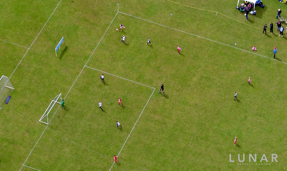 Drone footage soccer tournament northwest cheshire