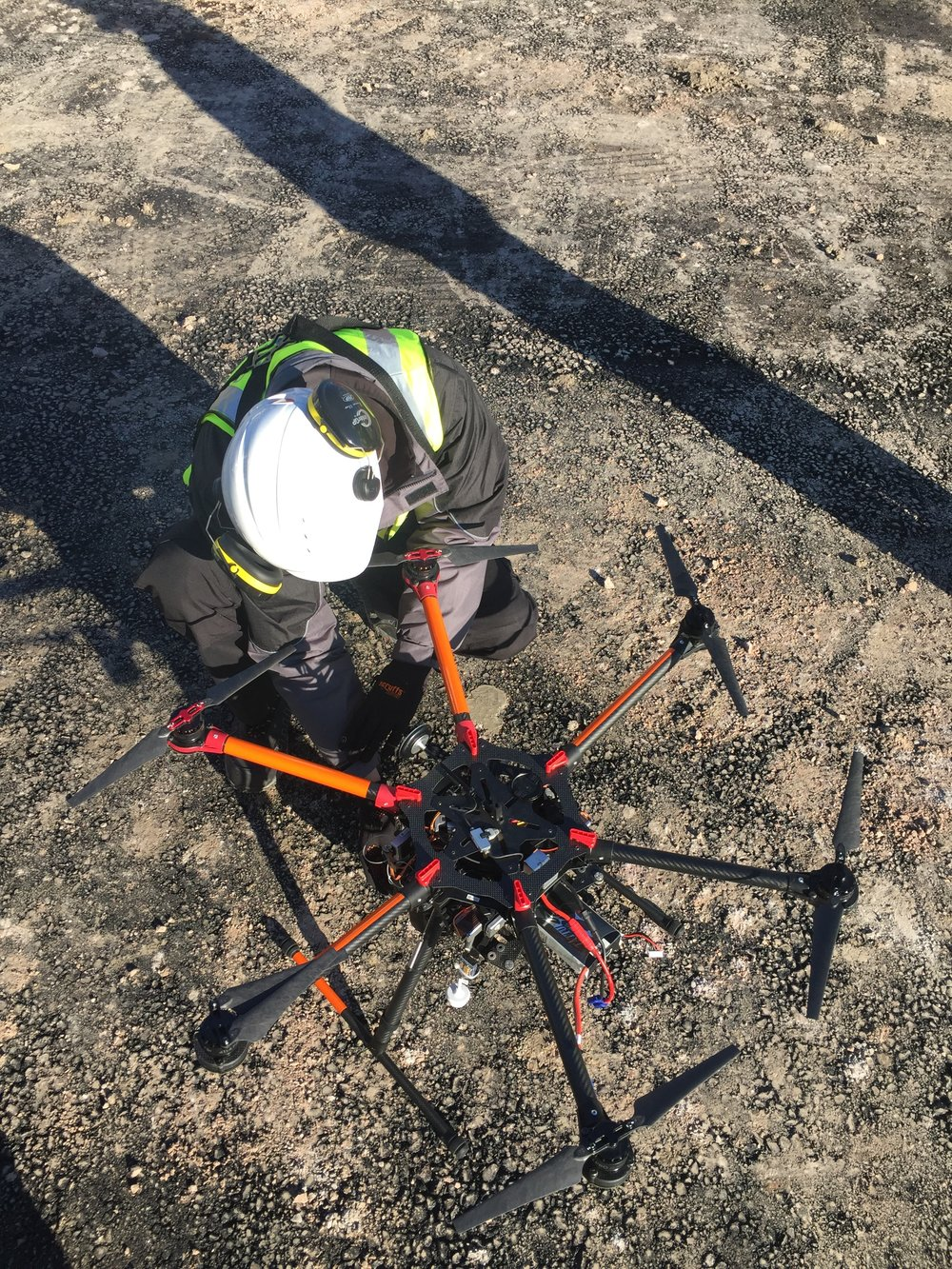 drone pilot construction site