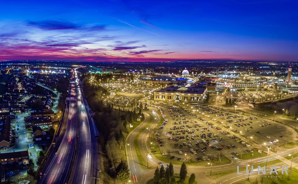 aerial view trafford centre and motorway at night, with drone.jpg