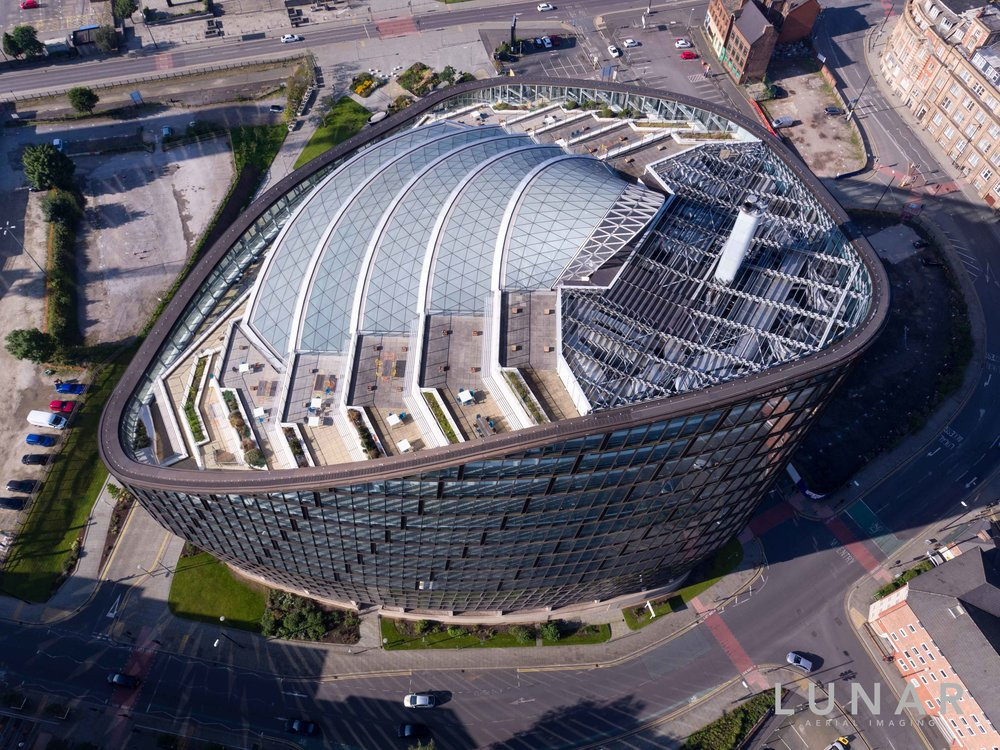Aerial view of NOMA in Manchester